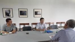 市文联党组成员、副主席吴  洪到我会调研